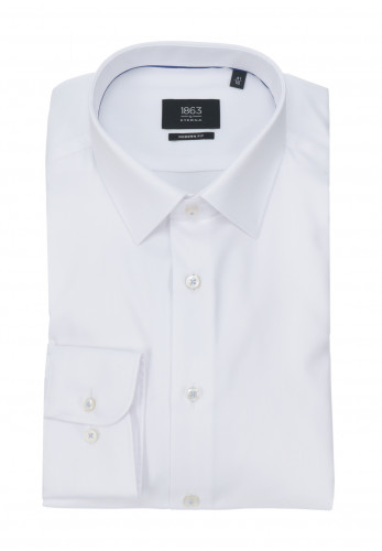 Eterna White Zig-Zag Modern Fit Shirt