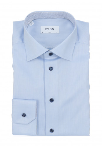 Eton Signature Twill Slim Fit Shirt, Blue