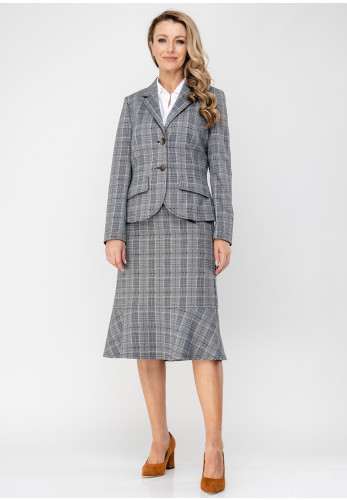 Eugen Klein Checked Blazer Jacket, Grey