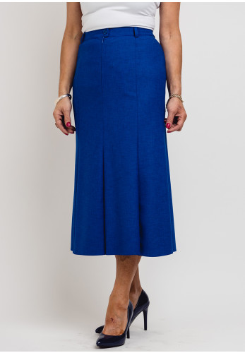 Eugen Klein Woven Midi Skirt, Royal Blue