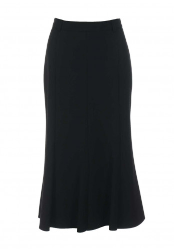 Eugen Klein Midi Length Flared Skirt, Black