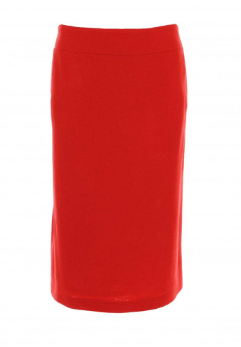 Eugen Klein Wool & Cashmere Blend Skirt, Red