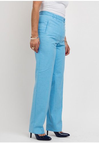 Eugen Klein Woven Slim Leg Trousers, Blue