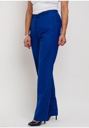 Eugen Klein Woven Slim Leg Trousers, Royal Blue
