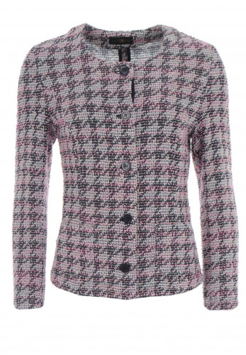 Eugen Klein Boucle Knit Jacket, Pink & Navy
