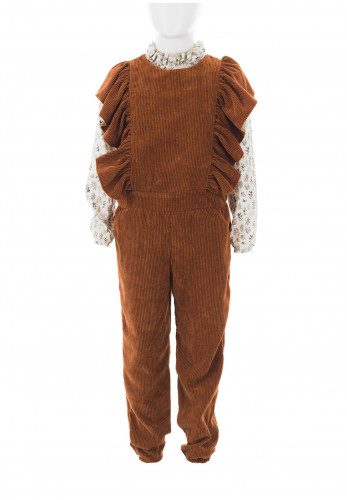 Eve Children Corduroy Dungaree and Top Set, Brown