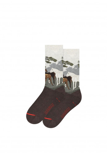 Art Sox 'Mares and Foals in a River Landscape' Printed Socks, 40-46