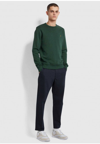 Farah Tim Organic Crew Neck Sweater, Cedar Green