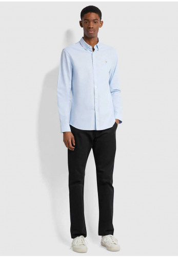 Farah Brewer Slim Fit Organic Shirt, Sky Blue