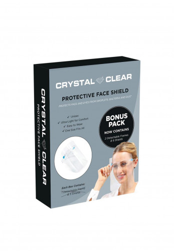 Crystal Clear Protective Face Shield Bonus Pack