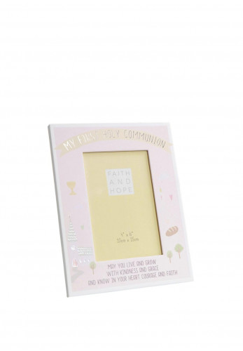 Faith and Hope Pink Communion Photo Frame, 4 x 6