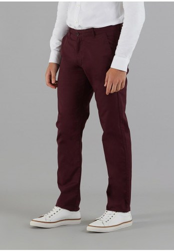 Farah Vintage Elm Twill Chino Trousers, Wine
