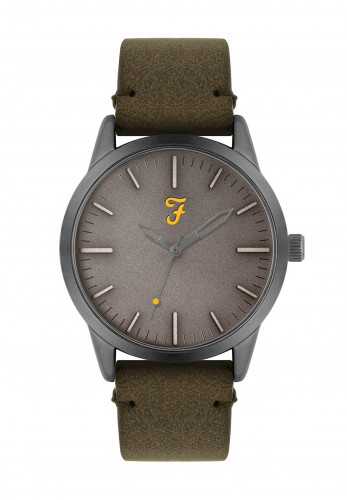Farah The Classic Suede Strap Watch, Green