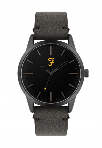 Farah The Classic Suede Strap Watch, Grey