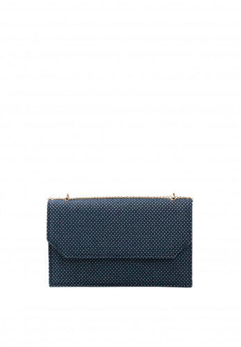 Glamour Clara Printed Clutch Bag, Navy & White