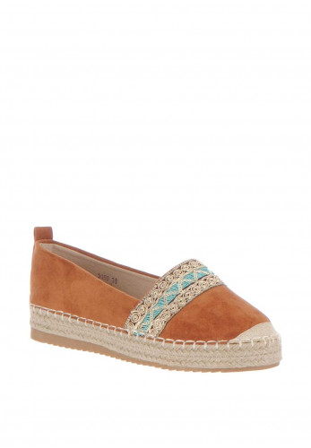 Zen Embellished Espadrille Pumps, Tan