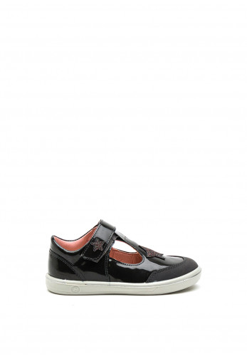 Pepino Mandy Star Leather T-Bar Shoes, Grey