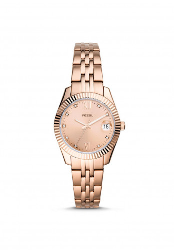 Fossil Scarlette Mini Three-Hand Stainless Steel Watch, Rose Gold