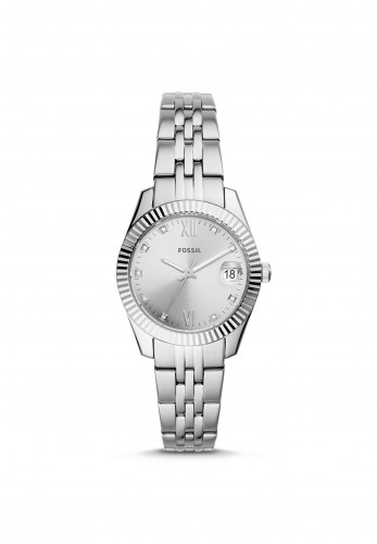 Fossil Scarlette Mini Three-Hand Stainless Steel Watch, Silver