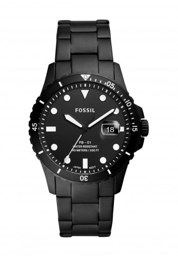 Fossil Silicone FB-01 Watch, Black