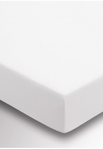 Sanderson 220 Thread Count Fitted Sheet, White