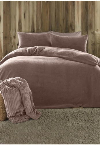 Fusion Teddy Fleece Duvet & Pillowcase Set, Blush