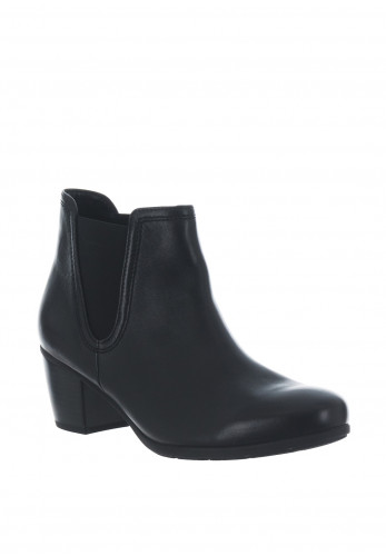 Gabor Leather Best Fitting Block Heel Chelsea Boots, Black