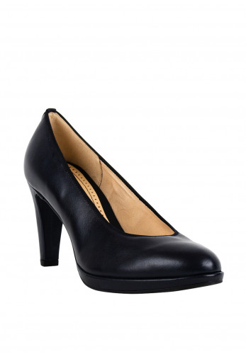 Gabor Womens Leather Court Shoes, Navy