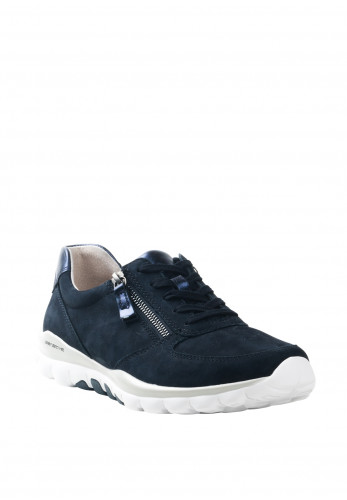 Gabor Suede Lace and Zip Up Trainers, Navy