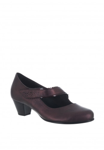 Gabor Leather H Wider Fit Velcro Shoes, Wine