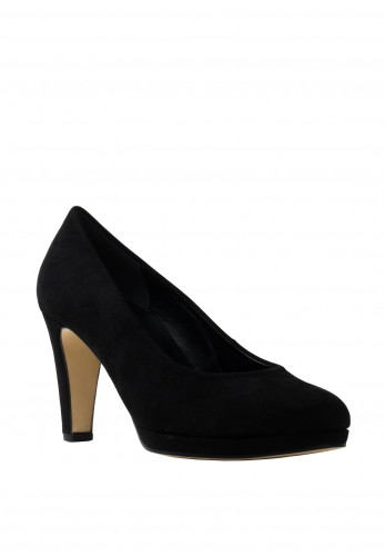Gabor Soft and Smart Faux Suede Court Shoes, Black