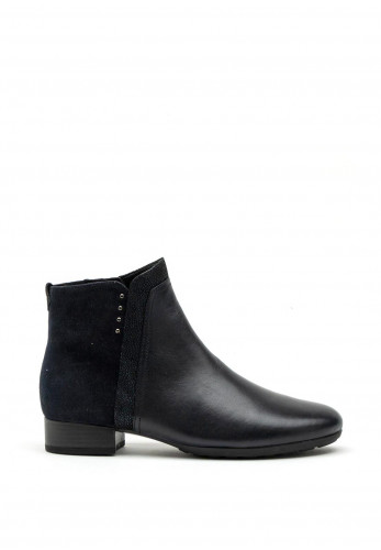 Gabor Comfort Extra Wide H Fit Suede & Leather Chelsea Boot, Navy