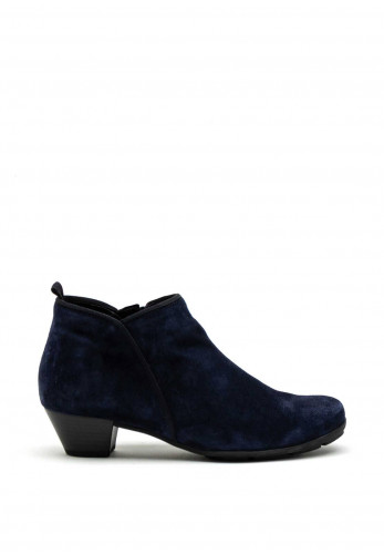 Gabor Suede Leather Short Ankle Boot, Navy