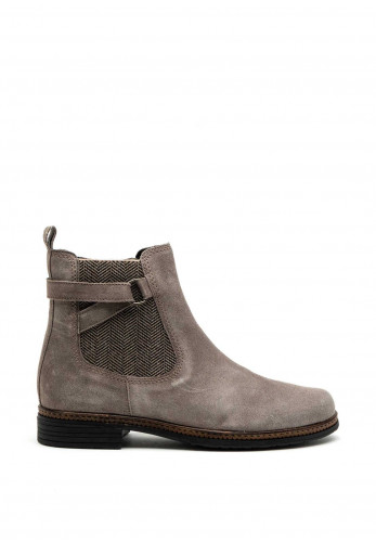 Gabor Chelsea Suede Leather Ankle Boot, Light Grey