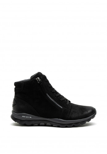 Gabor Rolling Soft Nubuck Lace Up Boot, Black