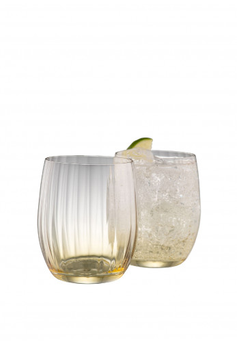 Galway Crystal Erne Tumbler Glass Pair, Amber