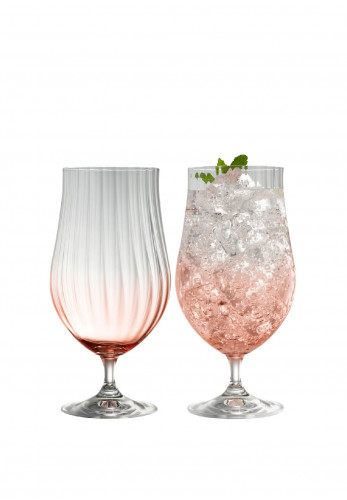 Galway Crystal Erne Craft Beer/Cocktail Glass Pair, Blush