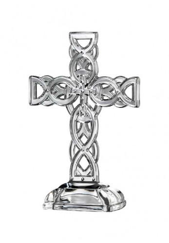 Galway Crystal Celtic Cross Ornament