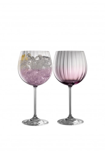 Galway Crystal Erne Gin & Tonic Glasses Pair, Amethyst