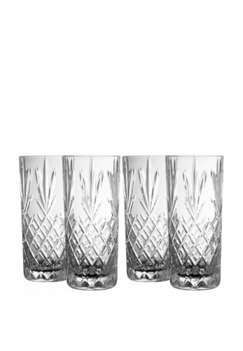 Galway Irish Crystal Renmore Hi-Ball Glasses
