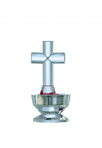 Galway Crystal Glass Cross Votive Candle
