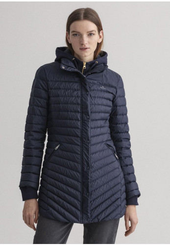 GANT Womens Light Down Quilted Coat, Navy