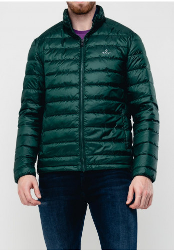 Gant The Light Down Jacket, Tartan Green
