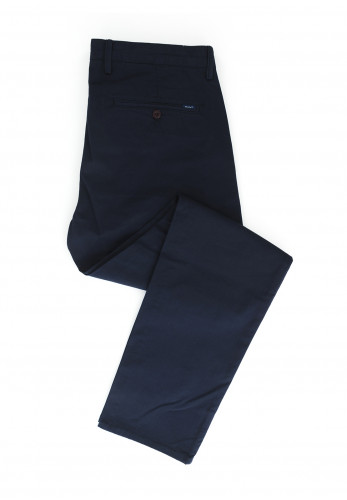Gant Slim Fit Twill Chino Trousers, Marine