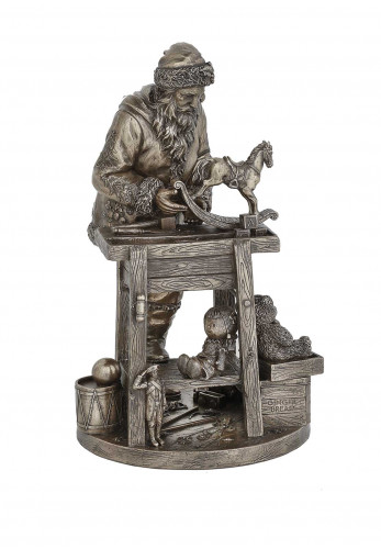 Genesis Christmas Santa's Workbench Bronze Ornament
