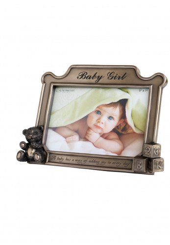 Genesis Baby Girl Bronze Photo Frame, 5 x 7 inches