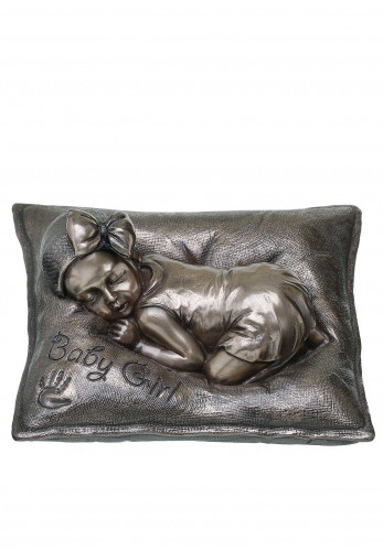"Genesis Sweet Dreams (Girl) Ornament 2.5""Height 5"" Weight 4.75 ""Depth, Cast Bronze"