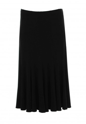 Georgede A-Line Midi Length Skirt, Black