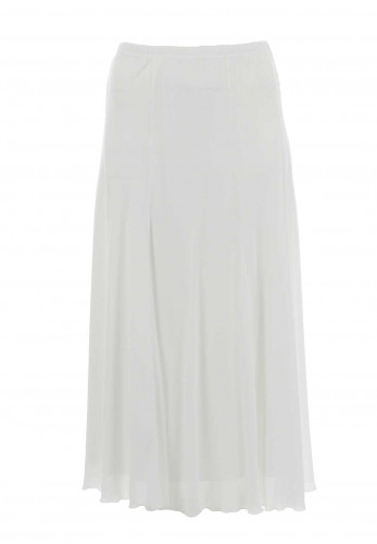 Georgede Crepe Maxi Skirt, White