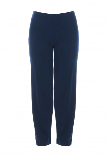 Georgede Straight Leg Jersey Trousers, Navy